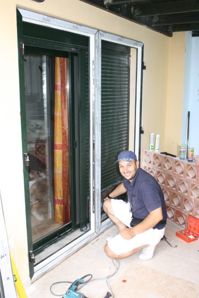 Flood Doors being fitted in Greece